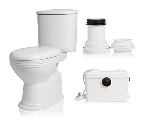 Macerating Upflush Toilet Kit with Standard Bowl