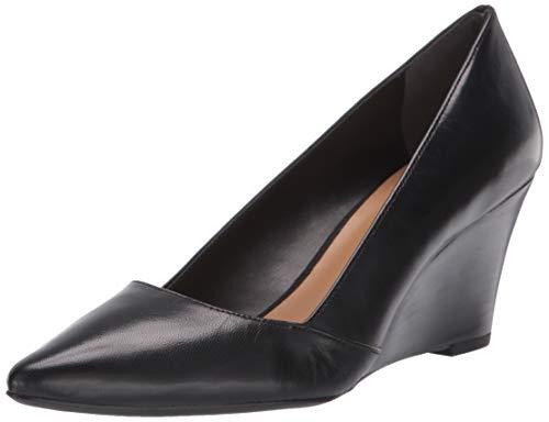 Franco Sarto Women's Frankie Pump, Black Leather, 8.5 M US