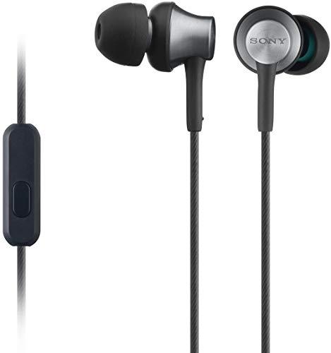 Sony MDR-EX650APT In-Ear-Kopfhörer, Messinggehäuse, Headset, Mikrofon, Fernbedienung, schwarz