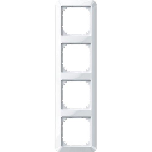 Merten 389419 1-M-Rahmen, 4fach, polarweiß glänzend