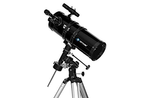 OPTICON Galaxy 150F1400EQ. Telescopio riflettore, ingrandimento: 430 x, Telescopi per Astronomia, Stargazing per Principianti, Lunghezza focale 1400mm, Materiale didattico e accessori in set