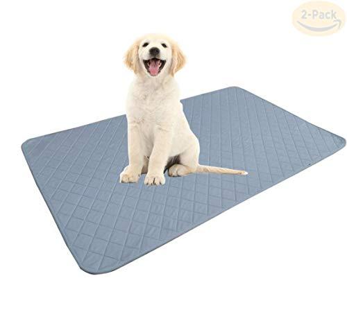 SMACO Wiederverwendbare Hundepipi Pad, Anti-Skid Bottom/Fast absorbieren/Deodorant Hund waschbare Matten, Training von Welpen-Pads für Indoor Outdoor-Auto-Spielraum,75 * 115CM