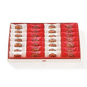 梅林堂 紅白満願成就28匹入《お菓子 和菓子 洋菓子 スイーツ マドレーヌ 焼き菓子 めで鯛 可愛い 埼玉 土産 ギフト 個包装 ブライダル 引き菓子》