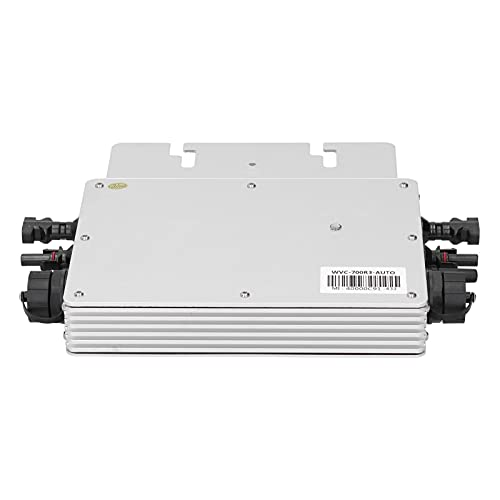 Inverter Solar 700W, Grid Tie Micro Inverter Wifi-Steuerung Automatische Identifizierung 120 / 230V Eingebautes Hochgenaues Messgerät Erzielen Sie eine Maximale Leistungspunktverfolgung