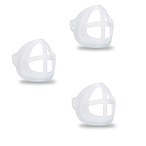MINGYUAN 3D Silicone Bracket for Comfortable Face Covering Wearing - 3 Pcs Protect Lipstick Mask Inner Support Frame, Reusable Washable