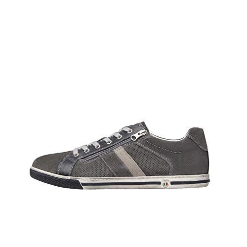 Nero Giardini E001530U Sneakers Uomo in Pelle E Camoscio - Jeans 43 EU