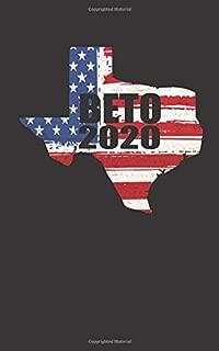 Beto 2020: Texas Beto O'Rourke for President 2020 Blank Lined Notebook Journal - Black