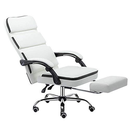 Silla de escritorio de oficina Silla de la computadora silla reclinable del Ministerio del Interior de elevación silla del jefe simple moderna Volver confortable silla perezosa con reposapiés para opt