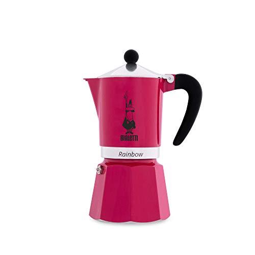 Bialetti Rainbow Espressokocher, Aluminium, Fuchsie, 6 Tassen