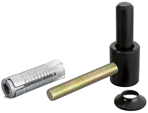GAH-Alberts 307363 Kloben zum Einschrauben | mit metrischem Gewinde | schwarzer Tauchlack | Dornmaß Ø14 mm | 65 x 33 mm