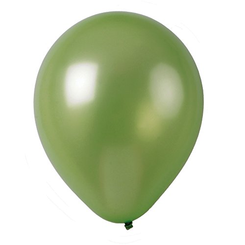 12' Solid Metallic Apple Green Latex Balloons 50-Pack Multiple Colors Available by Topenca Supplies Party