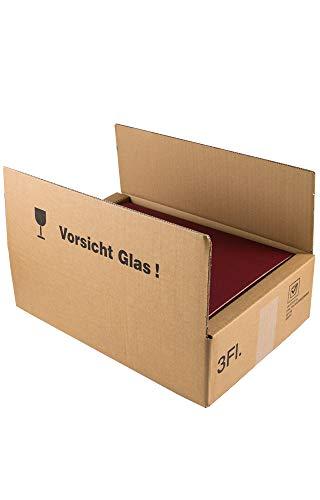 5 Stück im Set. Versandkarton für den sicheren Versand von 3er Weingeschenkkartons/Geschenkverpackungen. Umkarton für Geschenkkartons mit 3 Flaschen Wein. DHL geprüft. Neutrale Hülse.