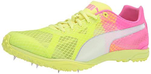 PUMA unisex-adult evoSPEED Haraka 6 Running Shoe, Fizzy Yellow-Luminous Pink-Puma White, 11 M US