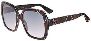 869ff592b Gucci Square Women's Sunglasses - GG0096S-005-54-19-140mm, Size