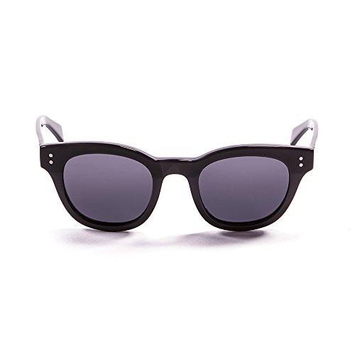Ocean Sunglasses Santa Cruz Lunettes de Soleil Mixte Adulte, Matte Black/Shiny Black Down/Smoke Lens