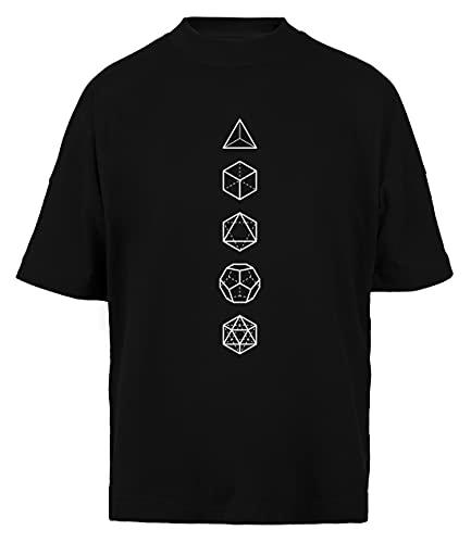 Platónico Sólidos - Cósmico Alineación Unisex Hombre Mujer Holgada Camiseta Black Algodon Organico Unisex Baggy T-Shirt Black