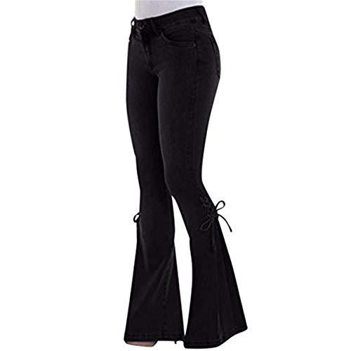 Vaqueros Mujer Bootcut Cintura Alta, Morbuy Push Up Rectos Acampanados Pantalones Talla...