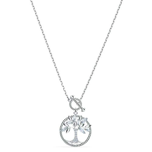 Swarovski Collana Symbolic Tree Of Life, Bianco, Placcato Rodio
