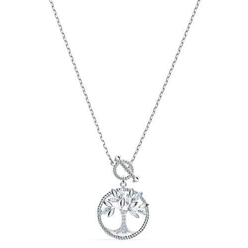 Swarovski Collana Symbolic Tree of Life da Donna, Placcato Oro, Bianco