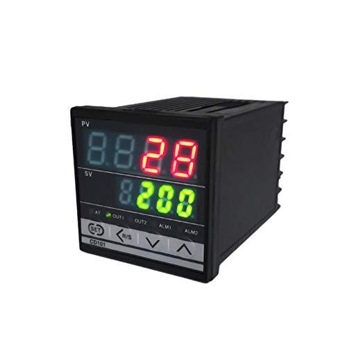 KKmoon Temperaturregler 100~240 V Digitale PID Doppelanzeige Max. Prüftemperatur 1372 °C Thermostate mit Alarmrelaisausgang