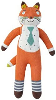 Blabla Socks The Fox Plush Doll - Knit Stuffed Animal for Kids. Cute, Cuddly & Soft Cotton Toy. Perfect, Forever Cherished. Eco-Friendly. Certified Safe & Non-Toxic.