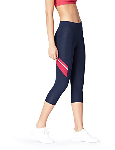 Activewear Leggings Sportivi Donna, Blu (Navy/garnet),...