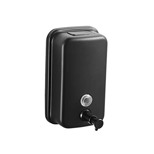 ZHIHUI Dispensador de Jabón Dispensador de jabón líquido Manual de Acero Inoxidable montado en la Pared, for la Cocina o el baño Capacidad (500 ml/Cromo) Bomba de Jabón