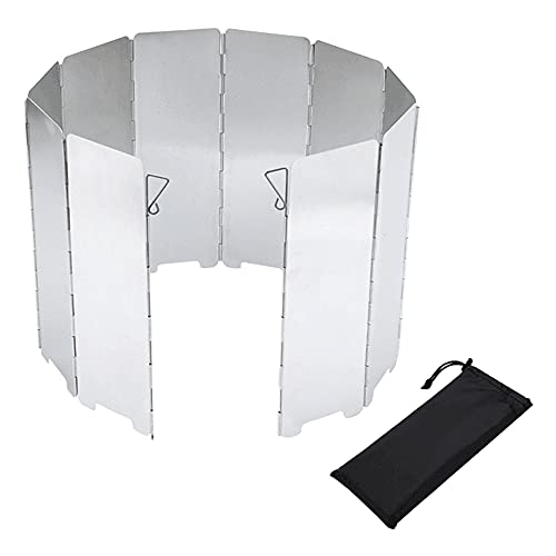 Kaimeilai Parabrisas de la Estufa de Camping, Estufa de Gas para Parabrisas Acampar Parabrisas Aluminio de Aleación Viento Pantallas, Aire Libre Parabrisas para Estufas de Camping Senderismo