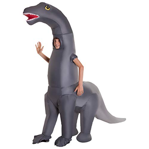 Morph Riesiges Aufblasbares Dino Kostüm, Diplodocus Kostüm für Kinder- Einheitsgröße