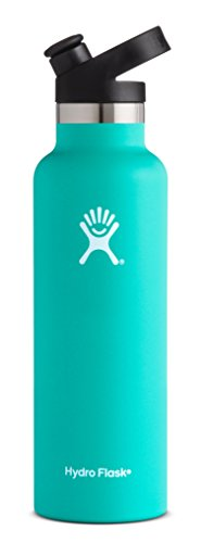 (21 oz (621 ml) Standard Mouth, Mint) - Hydro Flask 620ml Double Wall Vacuum Insulated Stainless Ste...