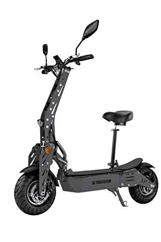 TREKSTOR e.Gear EG90 E-Scooter mit Straßenzulassung (eKFV), 2 x 1000 W Dual Hub Motoren, 960 Wh Batterie, 45 km/h, 50 km Reichweite, 12 Zoll Luftreifen, Scheibenbremsen, 100kg Tragkraft, Klappbar