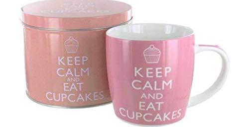 Keep Calm and Eat a Cupcake Pink Novelty Food Humor Quote Ceramic Gift Coffee (Tea, Cocoa) 11 Oz. Mug