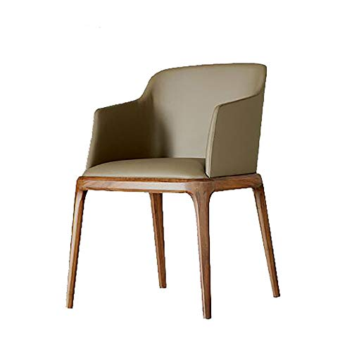 Dining Chair Walnut Kitchen Chair Artificial Leather Corner Soft Chair Lounge Chair with Ergonomic Armrests And Backrest Solid Wood Dining Chair,Small style