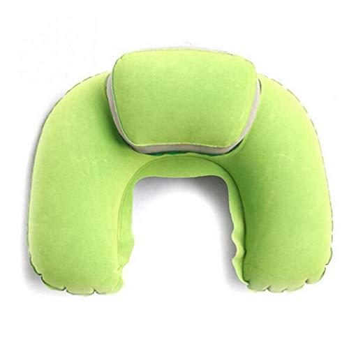 asdfwe T En Forma De Cojín Inflable Almohada Almohada para Cuello Cabeza del Coche del Resto del Cuello del Aire Soporte para Viajes Oficina Verde