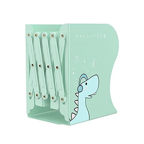 Sujetalibros de Metal para niños, Carpeta de Libros Plegable, Carpeta de revistas expandible Ajustable para Escritorio, estantería, Oficina(10-41 x 15 x 19 cm).