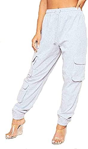 NAUVI Pantalones deportivos de forro polar con 3 bolsillos para mujer