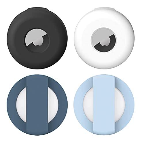 YeXhot Custodia protettiva in silicone compatibile con Apple Airtag GPS Finder collare per cani Airtag per cani e gatti di colore nero, bianco, blu, blu marino