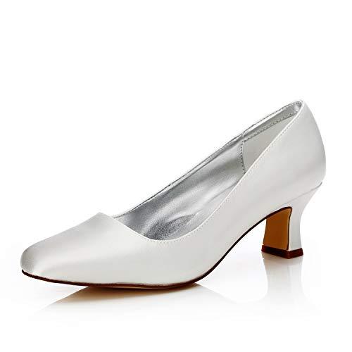 JIAJIA K58303 De Las Mujeres Zapatos de Novia Dedo del pie Cerrado...