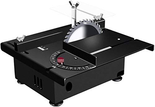 Sierra de mesa portátil de sobremesa, Sierra de mesa multifuncional, Mini sierra de mesa de precisión, profundidad de corte de 10000 orpm 35 mm, puede pulir, tallada y perforada para metal, corte de p