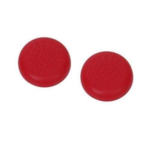 Para PS4, PS3, Switch Pro, Xbox One, Xbox 360, Wii U, PS2 Controller Analog Stick Thumbsticks Joystick Cap Controller Tampa de borracha Silicone polegar aderência boné Joystick Thumbstick, 2PCS Red