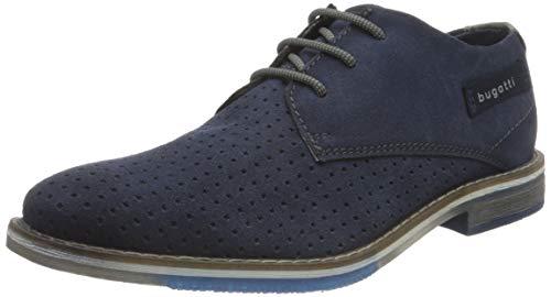 bugatti 311A34021400, Zapatos Derby Hombre, Azul Oscuro, 42 EU