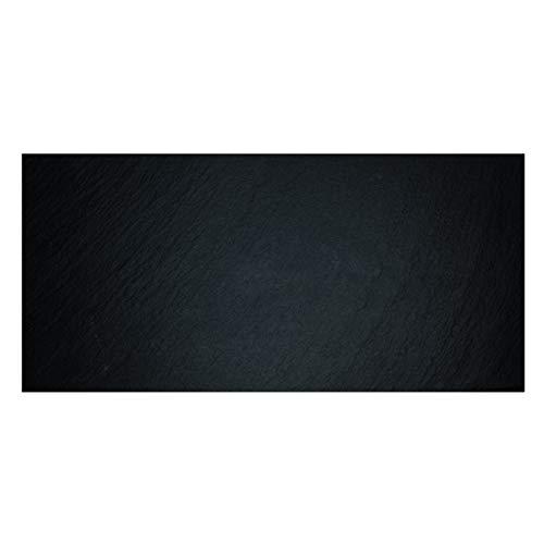 THE CHEF COLLECTION Bandeja de Pizarra con plato para Servicio de Catering y Cocktail (X-Grande) Negro 53x32,5x0,5 cm