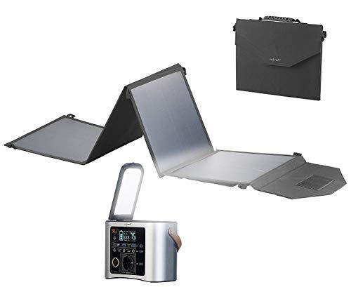 reVolt Notstrom: High-End-Powerbank & Solar-Konverter mit 50-W-Solarpanel, 90 Ah (Solargenerator und Powerbank)