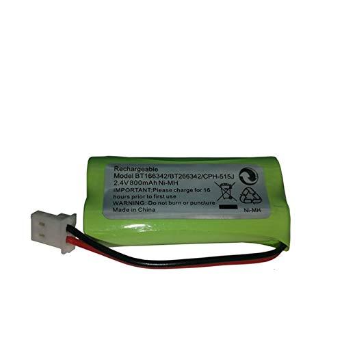 NHFGJ Paquete de batería Recargable de 1 Pieza 2.4v 800mAh para batería BT-166342/162342 / 515J / DM221 ni-mh 5pcs