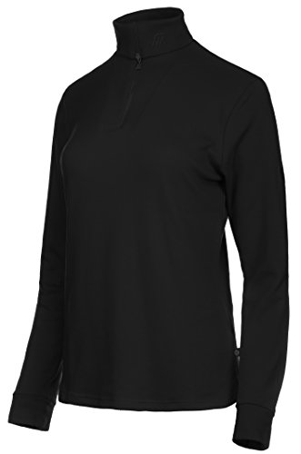 Medico Damen Ski Shirt, 42, 100{4a984a6897352410947e1675bcd9525e87a00ba4795545972838a1c351879221} Baumwolle, Langarm, Reißverschluss