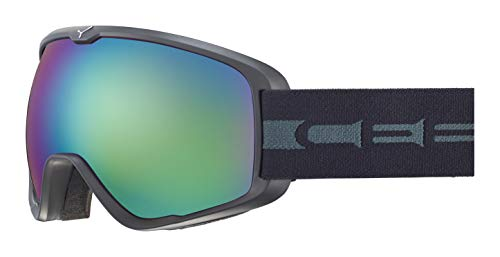 Cébé Artic M Gafas de Ski Matt Adultos Unisex Medium, Mattet Black Grey/Brown Flash Blue Cat.3, Large