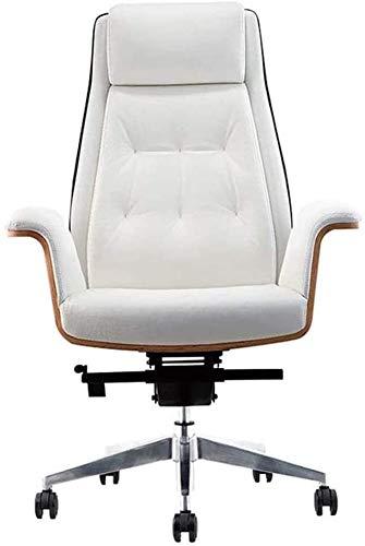 TGFVGHB - Sedia da ufficio girevole a 360 gradi, altezza regolabile per computer, sedia direzionale in pelle, sedia da ufficio e schienale
