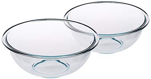 Pyrex SYNCHKG053132 Prepware Mixing Bowl with Rim 5.1 L Transparent Set of 2