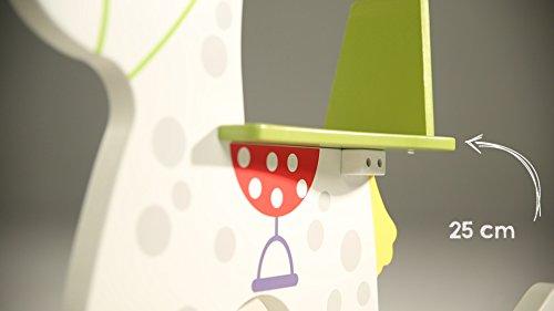 roba Schaukelpferd 'kleiner Racker', Schaukeltier mit Soundeffekt aus Holz mit Bedruckung, Schaukelsitz mit abnehmbarem Schutzring, Schaukelspielzeug ab 12 Monate - 9