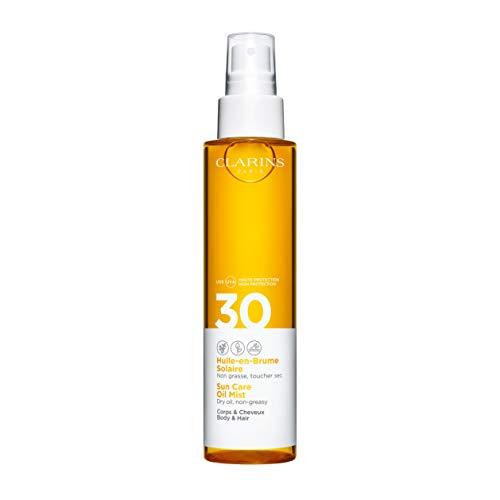 Clarins 57938 Sol Cuerpo Aceite Bruma Ac Seco Alta Protection Uvb 30 Uva, 150 ml